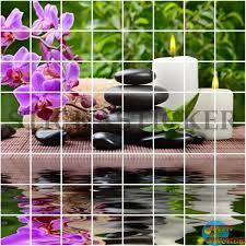 stickers carrelage salle de bain sticker carrelage cuisine salle de bain zen galets orchidée bougie