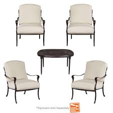 Sams Club Patio Set With Fire Pit by Paxton Place 5 Piece Patio Conversation Set With Fire Pit Home