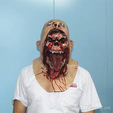 Scary Halloween Half Masks by Ghost Zombie Mask Halloween Full Head All Saints U0027 Day Mask Latex
