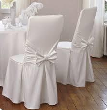 housses de chaise anniversaire intissé blanc les 6