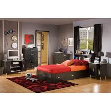 South Shore Furniture Dressers by South Shore Cosmos 5 Drawer Black Onyx And Charcoal Chest 3127035