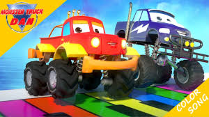 Monster Truck Dan | Color Song | Songs For Kids - YouTube Car Carrier Truck With Spiderman Cartoon For Kids And Nursery Lightning Mcqueen Cars Truck In Monster Shapes Songs Children The Song Ambulance Music Video Youtube Garbage By Blippi Fire Engine For Videos Wheels On Original Rhymes Baby Finger Family Trucks Surprise Eggs Titu Recycling Twenty Numbers