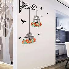 btruely wandaufkleber vogelkäfig dekorativew wandtattoos malerei schlafzimmer wohnzimmer tv wandaufkleber wandbild wandaufkleber sticker diy wanddeko