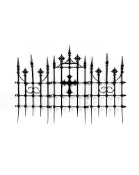 Halloween Graveyard Fence Decoration by Gothic Cemetery Cross Fence Build A Haunt Pinterest