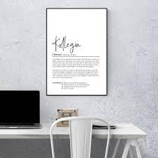 kollegin definition personalisiertes poster wörterbuch 10137