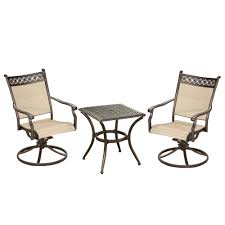 Bali Sling 3-Piece Antique Bronze Aluminum Patio Conversation Set ... Buy Outdoor Patio Fniture New Alinum Gray Frosted Glass 7piece Sunshine Lounge Dot Limited Scarsdale Sling Ding Chair Sl120 Darlee Monterey Swivel Rocker Wicker Sets Rattan Chairs Belle Escape Livingroom Hampton Bay Beville Piece Padded Agio Majorca With Inserted Woven Shop Havenside Home Plymouth 4piece Inoutdoor Nebraska Mart Replacement Material Chaircarepatio Slings