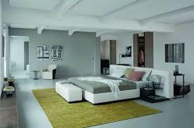 modernes schlafzimmer grau mit teppich grün freshouse