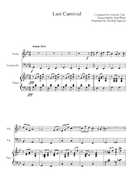 Last Carnival posed by Acoustic Cafe Transcribed by Alan Pham