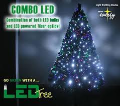 Fiber Optic Christmas Tree With White LED Lights