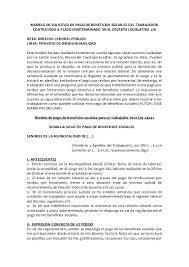 Modelo De Solicitud De Pago De Beneficios Sociales Del Trabajador Conu2026