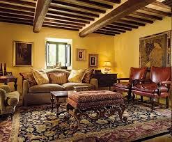 Tuscan Living Room Colors With Dark Wood Beams