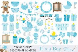 Baby Boy Clipart Blue Baby Shower Cli