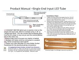 Requires Non Shunted Lamp Holders Tombstones by 4 Pack True Color U0026 Ul Listed T8 Led Tube Light 4ft 48
