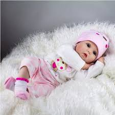 22inch Handmade Lifelike Reborn Baby Doll Silicone Baby Play House