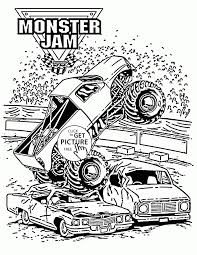 100 Monster Trucks For Kids Truck Coloring Pages Inspirational Truck