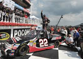 100 Truck Series Drivers Joey Coulter Earns First Win At Pocono Skirts And Scuffs