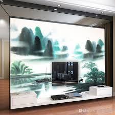 großhandel vliestapete wall modern minimalistisch wohnzimmer tv hintergrundbild abstrakte landschaft gemälde tapete molamurals 33 91 auf