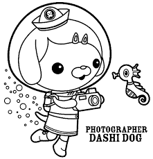 Octonaut Dashi Coloring Pages
