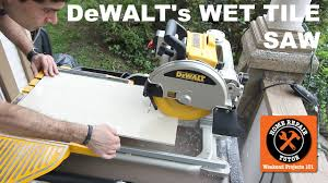 Dewalt Tile Saws Home Depot by The Dewalt Wet Tile Saw It U0027s A Beast Youtube