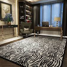de schwarz weiß streifen teppich wohnzimmer leopard
