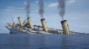 real time sinking of titanic s sister ship the britannic gif
