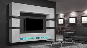 home direct heidi n36 weiß modernes wohnzimmer wohnwand wohnschrank schrankwand möbel mediawand an36 18hg w2 1a ohne füße möbel ohne led