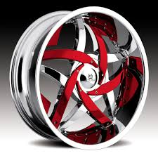 100 Custom Rims For Trucks Red White And Blue Lips Chrome Felgen Red White And Blue