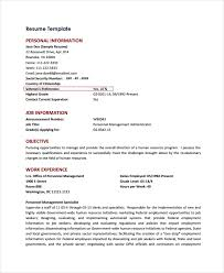 Resume Template For Federal Jobs PDF Download