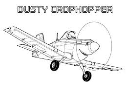 Planes Coloring Pages Dusty Colouring 14 Disney