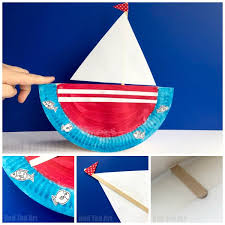 Rocking Paper Plate Boats These Ships Are Quick And Easy To Make