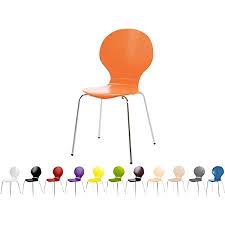 stapelstuhl bistrostuhl stuhl esszimmerstuhl küchenstuhl design metall holz stapelbar sehr belastbar orange
