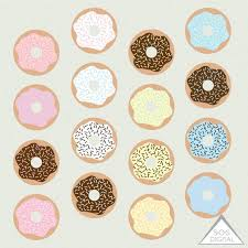 Donut Clipart Cute Donuts Frosted Sweets Bakery