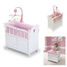 Baby Doll Crib American Girl Dolls Furniture White Cradle Wood