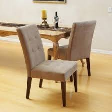 Talib Tufted Leather Dining Chair Set Of 2