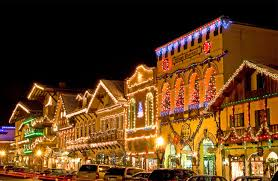 Christmas Lighting Festival Leavenworth Washington USA
