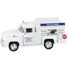100 Icecream Truck Amazoncom 1956 Ford F100 Pickup Ice Cream Die Cast Metal 1