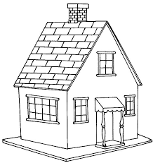 Coloring Pages Printable House Big For Kids Cun Houses