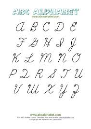 Capital Letters Cursive Writing Letters Font