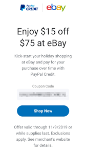 TARGETED] EBay $15 Off $75+ WithPaypal : Frugalmalefashion