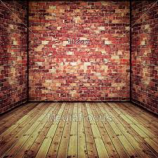 Abstract Interior With Old Brick Wall And Wooden Floor Stock Photo