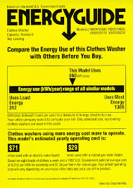 The Labels Shows Amount Of Energy Used Based On Average Use By A Family Four