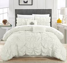 Lush Decor Serena Bedskirt by Amazon Com Chic Home Cs1440 An Halpert Floral Pinch Pleat Ruffled
