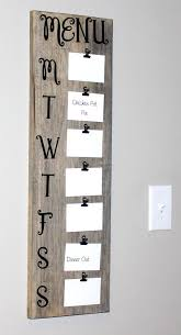 Rustic Menu Board 30 Tall Meal By Peachykeenday On Etsy