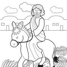 Jesus Donkey Coloring Page
