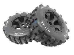 100 Truck Tires And Wheels 15 Scale Dirt Knobby 195x80 Rear Rovan RC