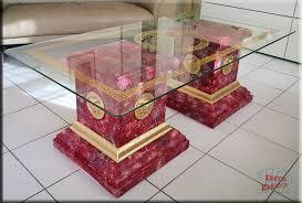 couchtisch medusa wohnzimmertisch säulen tisch glastisch marmor optik sto 1092m 13v stuckgips