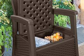 Walmart Suncast Patio Furniture by Suncast Elements Outdoor Furniture Club Chair With Storage