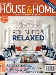Home Decor Magazine Canada by Canadian House U0026 Home October 2016 Devol Kitchens