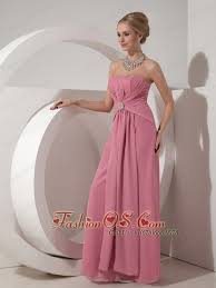Pretty Dusty Rose Mother Of The Bride Dress Column Strapless Floor Length Chiffon Beading