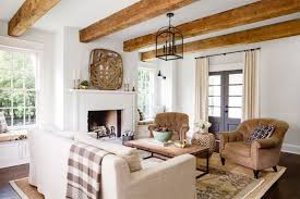 Living Room Country Rustic Stylish On